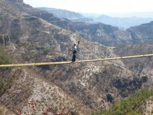 Copper Canyon suspension bridge