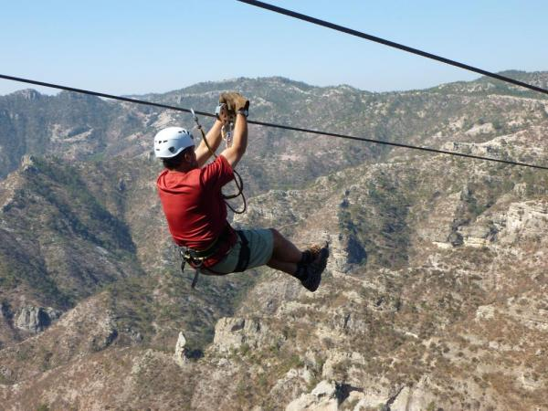 Copper Canyon zipline, one of the highest and longest ziplines in Mexico