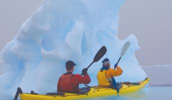 Experience kayaking on a polar expedition