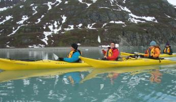 Kayak in the pristine waters of Alaska