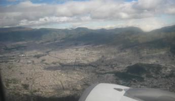 A view of Quito from above