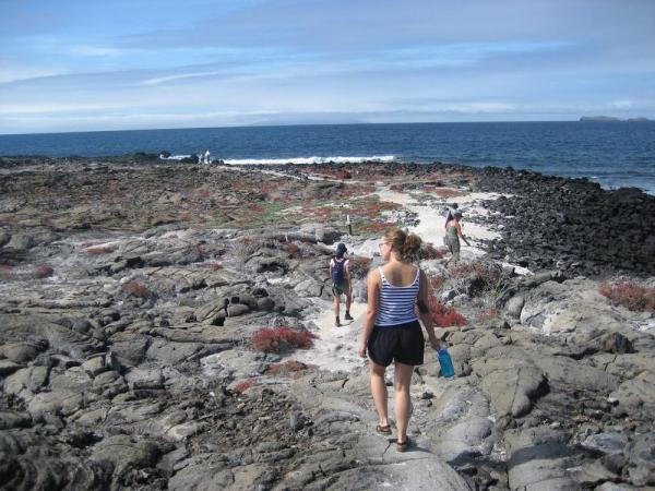 Day Hike during a Galapagos cruise
