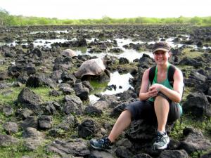 A giant lagoon with hundreds of giant tortoises- La Galapaguera, San Cristobal