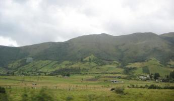 Beautiful hills north of Quito on our way to Otavalo Market