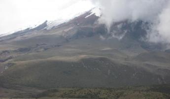 Cotopaxi Volcano - that tiny yellow speck is where we will hike to