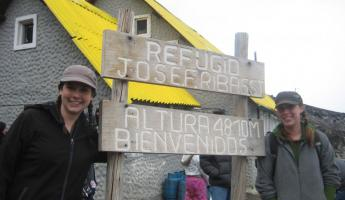 Refugio José F. Ribas at 4800 meters on the Cotopaxi Volcano