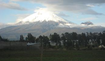 Cotopaxi Volcano after the clouds cleared