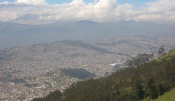 A view from Pinchicha in Quito