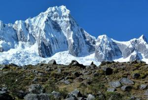 The snowy peaks of Cordillera Blanca