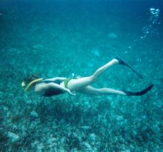 Beth on a snorkeling tour in Belize