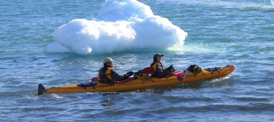 Sea kayaking excursion in Antarctica