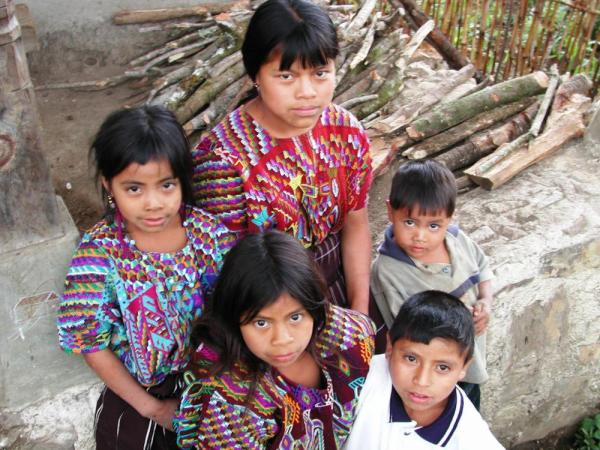Maya children in the Guatemala Highlands