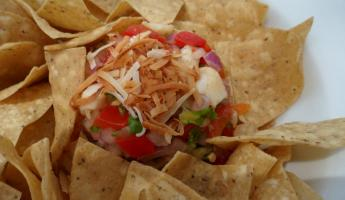 Grouper Ceviche on the beach after snorkeling!