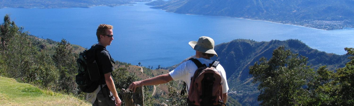 Beautiful views hiking by Lake Atitlan