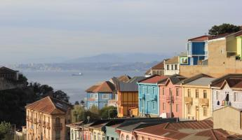 Stroll past the quaint homes in Valparaiso