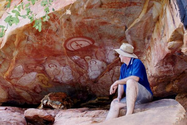 Admire ancient Aboriginal rock art