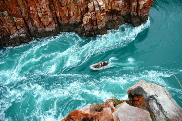 Zoom through the Horizontal Falls