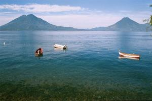 Boats on Lake Atitlan, Guatemala
