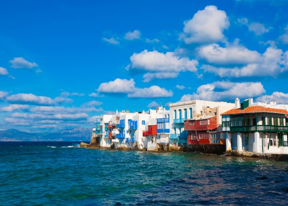 The island of Mykonos, Greece