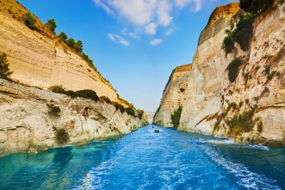 Cruise the Corinth Canal on your small ship cruise