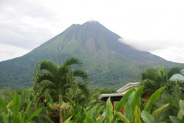 Yes it is THAT close...Arenal Volcano