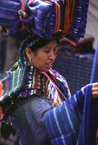 Maya vendor at Chichicastenango market