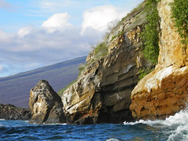 Rocky coastline of Isabela
