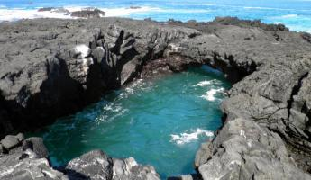 Tidal pool on Santiago