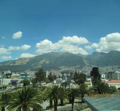 Our 1st morning in Quito, great view from JW Marriott