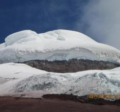 Snow/ice capped Cotopaxi, thanks to camera zoom feature!