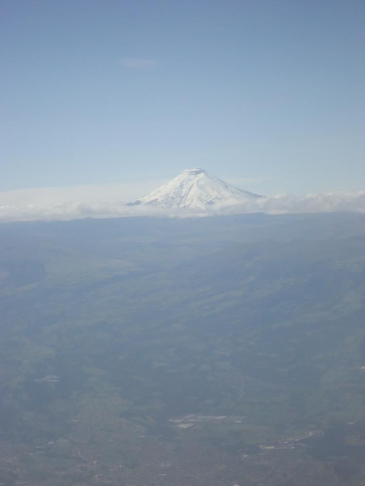 Cotopaxi Volcano from the plane