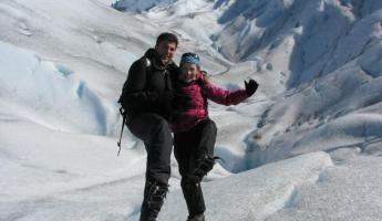 Happy feet on the Perito Moreno Glacier