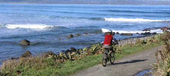 Enjoy a bike ride along the coast during your Chiloe Island Adventure