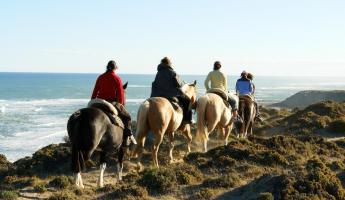 Horseback riding on Peninsula Valdes