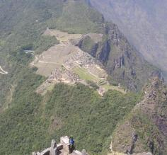 Machu Picchu from Huana peak.  Mission accomplished.
