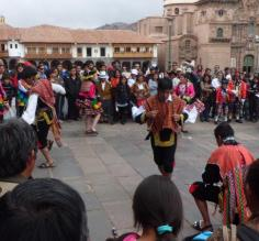 Sunday at the Cathedral in Plaza de Armas Cusco.