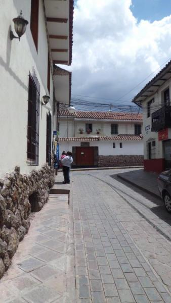 Narrow streets at hotel Cusco