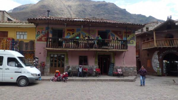 Where we should have been in Pisac.  Note little girls.