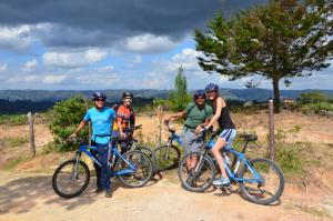 Biking during Colombia Vacation