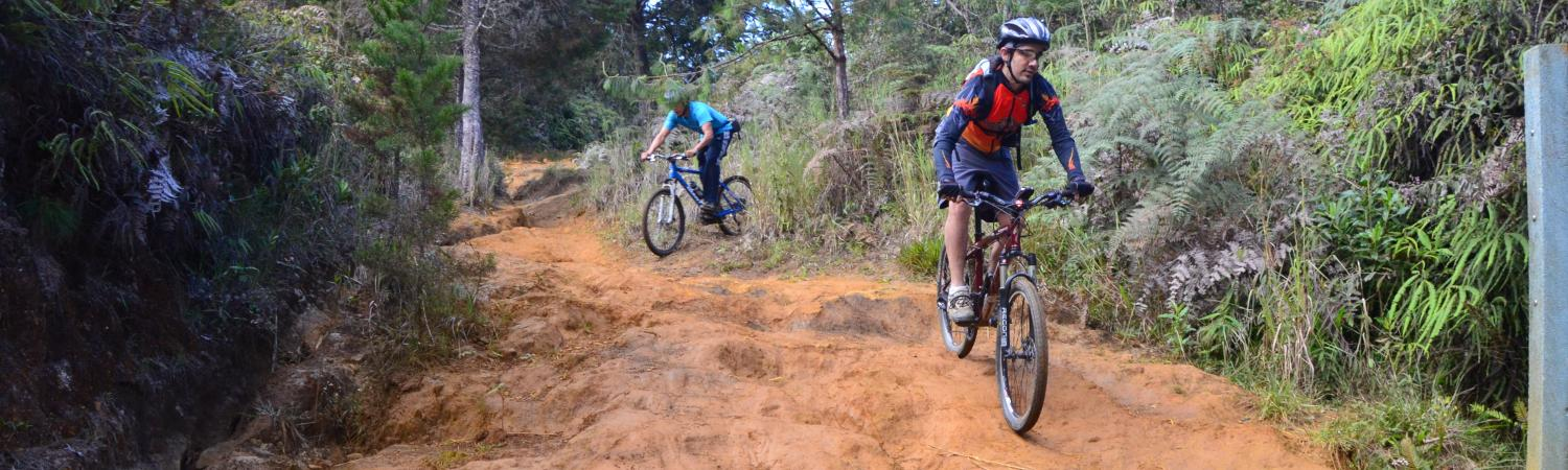 Mountain Biking near Medillin on Colombia Trip