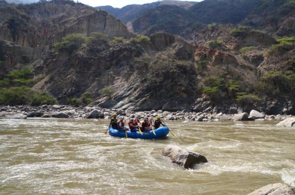 Whitewater Rafting during Colombia Tour