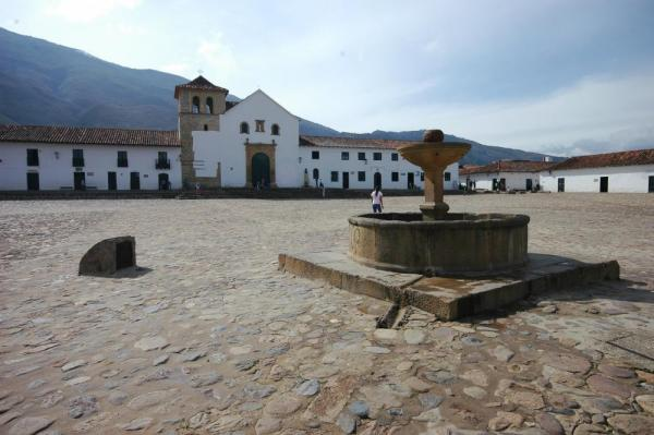 Villa de Leyva main plaza in Colombia