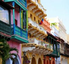 Balconies in Cartagena