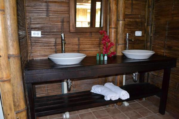 Private baths include hot water and eco-concious amenities