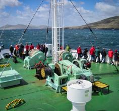 Setting off towards the Falkland Islands on Ortelius