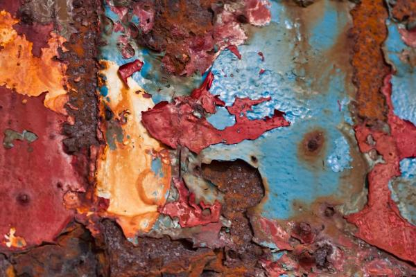 Layers of paint on old ship