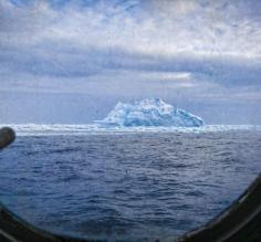 Typical view from our room porthole while heading South