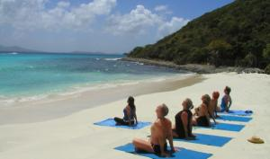 Enjoy activities such as yoga on the beach