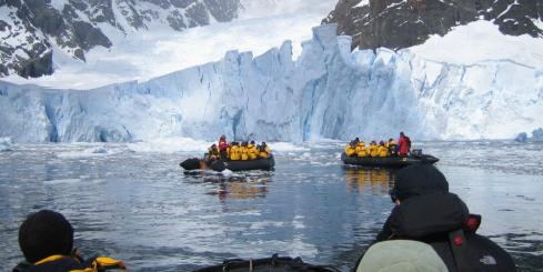 Zodiac excursion during an Antarctica nature tour