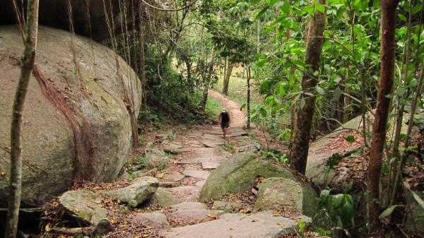 Hiking during Colombia Tour